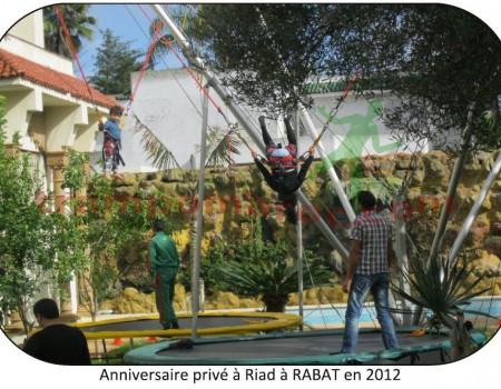 Anniversaire privé à RIAD à RABAT en 2012