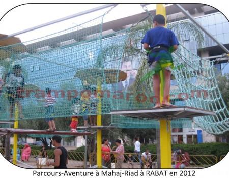 Parcours-Aventure à MAHAJ-RIAD à RABAT en 2012